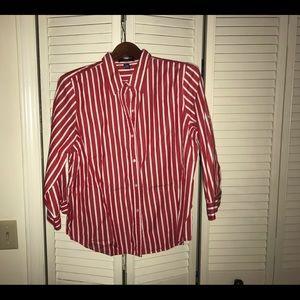 Chaps Pinstripe Button Shirt
